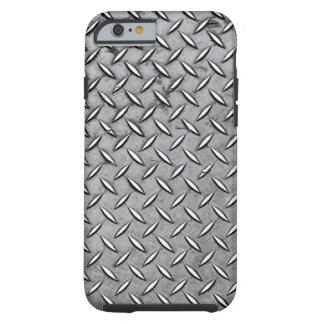 Manly Diamond Cut Metal - Cool Metallic Plate Look Tough iPhone 6 Case