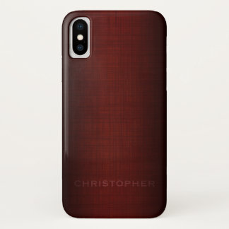 Manly Executive Design with Name for Men iPhone X Case