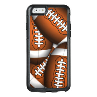 Manly Footballs Pattern American Football Custom OtterBox iPhone 6/6s Case