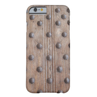 Manly Medieval Studded Wood Barely There iPhone 6 Case
