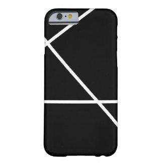 Manly Modern Black White Stripe iPhone 6 Plus Case