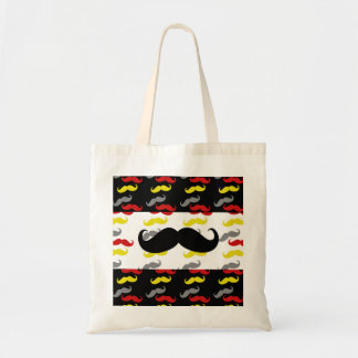 Manly Mustache Hair Colors Tote Bags