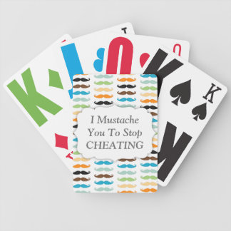 Manly Mustaches Bicycle Playing Cards