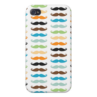 Manly Mustaches iPhone 4 Cover
