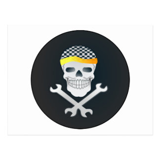 Manly Skull & Crossbones Postcard