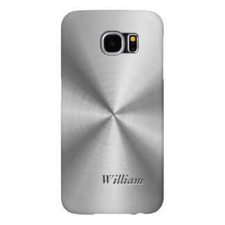 Manly Stainless Steel Pattern Look Mongorammed Samsung Galaxy S6 Cases