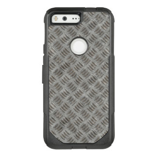 Manly Textured Silver Metal OtterBox Commuter Google Pixel Case