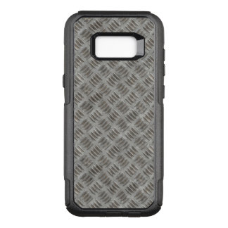 Manly Textured Silver Metal OtterBox Commuter Samsung Galaxy S8+ Case
