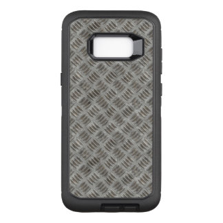 Manly Textured Silver Metal OtterBox Defender Samsung Galaxy S8+ Case