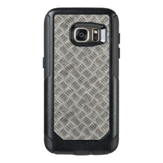 Manly Textured Silver Metal OtterBox Samsung Galaxy S7 Case