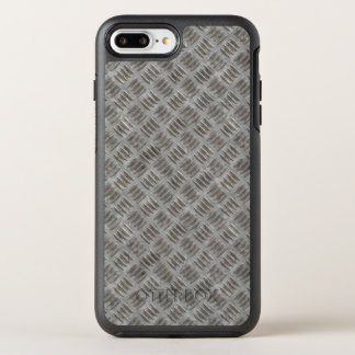 Manly Textured Silver Metal OtterBox Symmetry iPhone 8 Plus/7 Plus Case