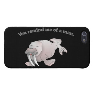 Manly walrus iPhone 5 cases