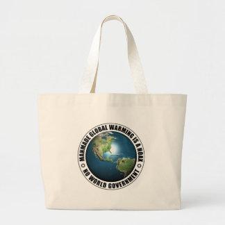 Manmade Global Warming Hoax Jumbo Tote Bag