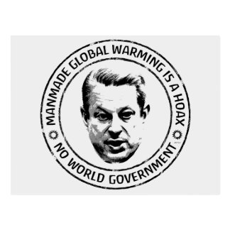 Manmade Global Warming Hoax Postcard