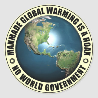 Manmade Global Warming Hoax Round Sticker