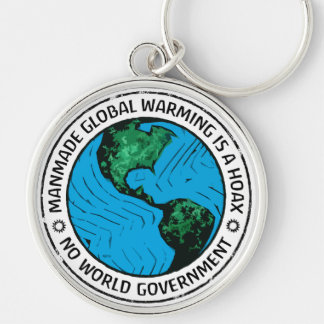 Manmade Global Warming Is A Hoax Silver-Colored Round Keychain