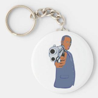 Mann Pistole man pistol Schlüsselanhänger