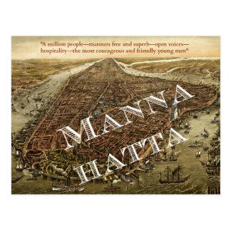 Mannahatta -- Whitman's Manhattan postcard
