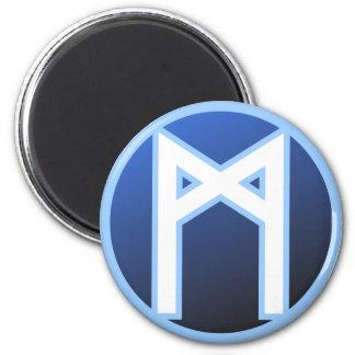 Mannaz Man Rune Magnet