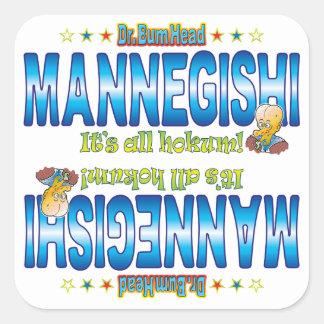 Mannegishi Dr. B Head Square Sticker