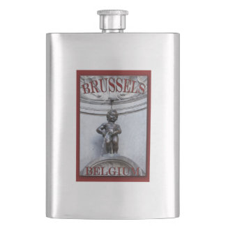 Mannekin Pis in Brussels Hip Flask