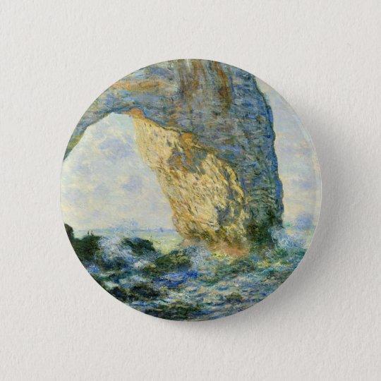 Manneporte, Rock Arch - Étretat (Normandy) - Monet 2 Inch Round Button