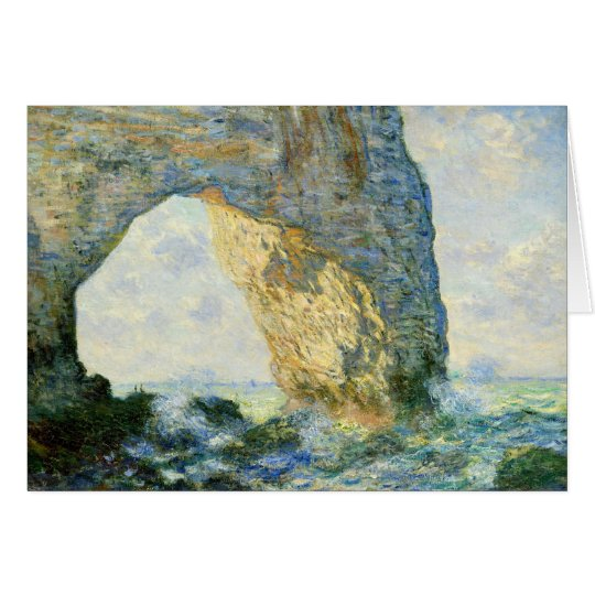 Manneporte, Rock Arch - Étretat (Normandy) - Monet Card