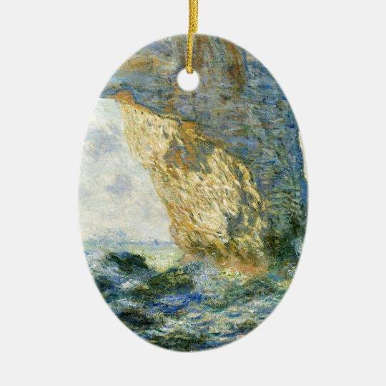 Manneporte, Rock Arch - Étretat (Normandy) - Monet Ceramic Oval Ornament