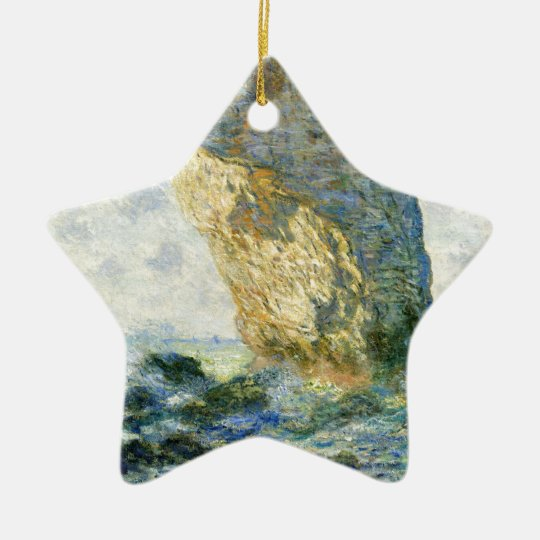Manneporte, Rock Arch - Étretat (Normandy) - Monet Ceramic Star Ornament