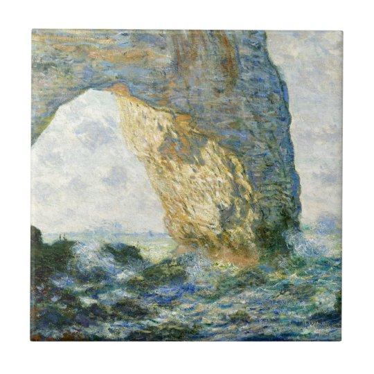 Manneporte, Rock Arch - Étretat (Normandy) - Monet Ceramic Tile