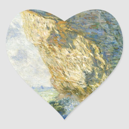 Manneporte, Rock Arch - Étretat (Normandy) - Monet Heart Sticker
