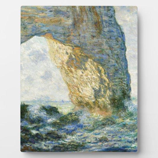 Manneporte, Rock Arch - Étretat (Normandy) - Monet Photo Plaque