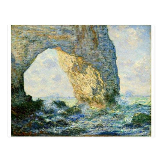 Manneporte, Rock Arch - Étretat (Normandy) - Monet Postcard