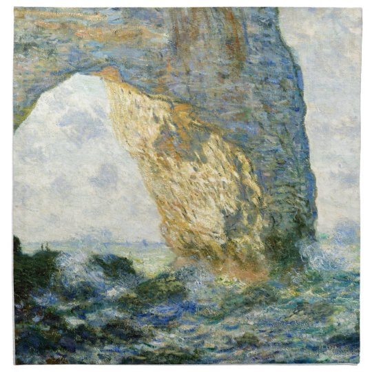 Manneporte, Rock Arch - Étretat (Normandy) - Monet Printed Napkins