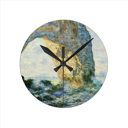 Manneporte, Rock Arch - Étretat (Normandy) - Monet Round Clock