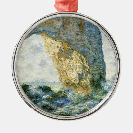Manneporte, Rock Arch - Étretat (Normandy) - Monet Silver-Colored Round Ornament