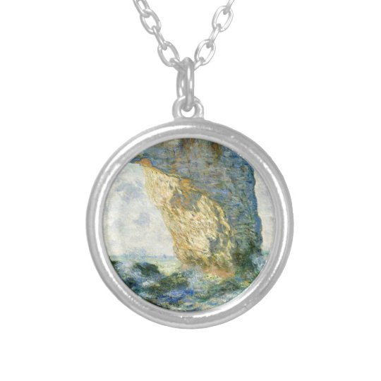 Manneporte, Rock Arch - Étretat (Normandy) - Monet Silver Plated Necklace
