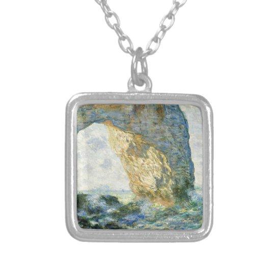 Manneporte, Rock Arch - Étretat (Normandy) - Monet Silver Plated Necklace