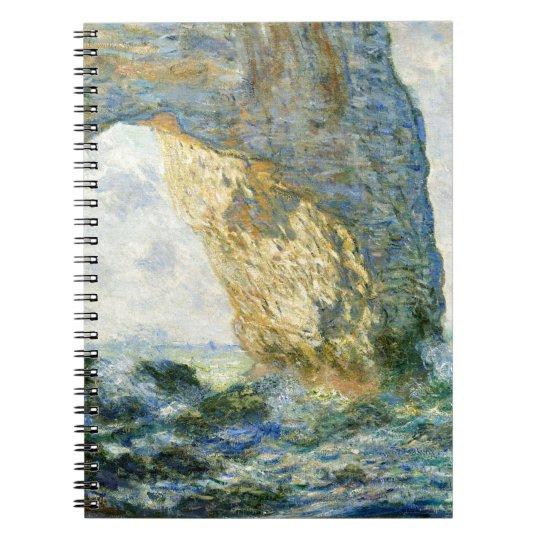 Manneporte, Rock Arch - Étretat (Normandy) - Monet Spiral Notebook