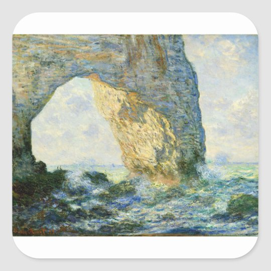 Manneporte, Rock Arch - Étretat (Normandy) - Monet Square Sticker