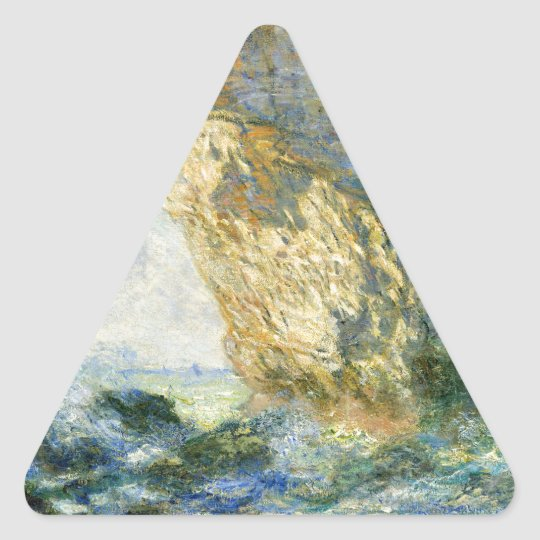 Manneporte, Rock Arch - Étretat (Normandy) - Monet Triangle Sticker