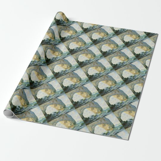 Manneporte, Rock Arch - Étretat (Normandy) - Monet Wrapping Paper