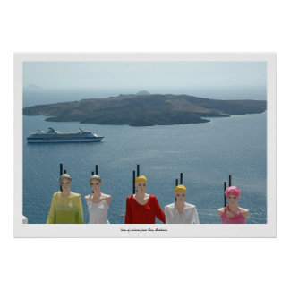 Mannequin, Cruise Ship and Volcano Poster