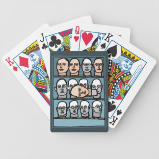 Mannequin Heads Bicycle Playing Cards