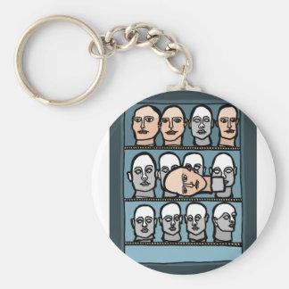 Mannequin Heads Keychain