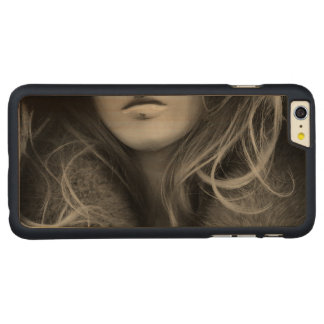 Mannequin in Black and White Carved Maple iPhone 6 Plus Case