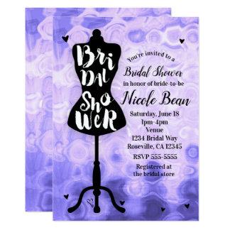 Mannequin Modern Glam Fashion Purple Bridal Shower Card