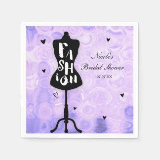 Mannequin Stand Vintage Retro Purple FASHION Party Paper Napkins