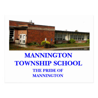 MANNINGTON TOWNSHIP SCHOOL POST CARD