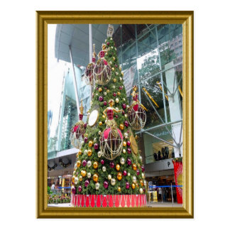 Manniquin Christmas tree Postcard